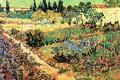 Картинка цветы, Винсент ван Гог, Flowering Garden, with Path